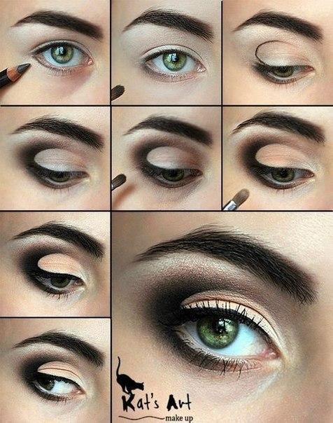 Как сделать красивый макияж в домашних условиях для серых глаз